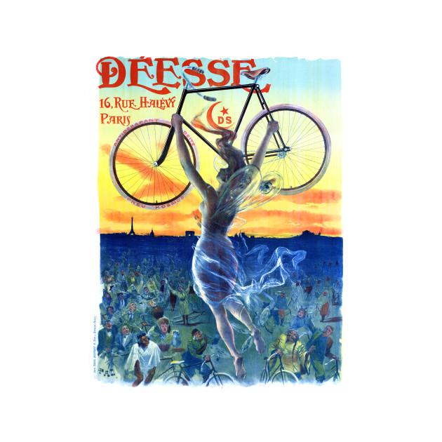 Vintage Travel Poster France Deesse Bicycles