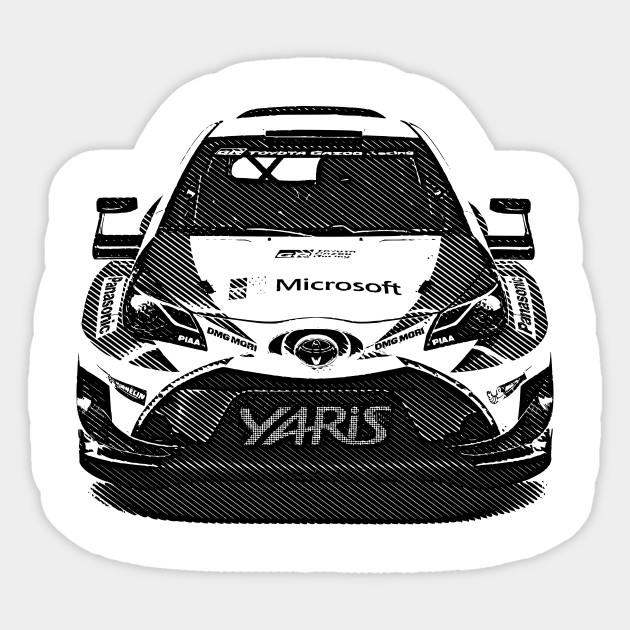 9392464404 Toyota Yaris WRC - Racing Car - Sticker