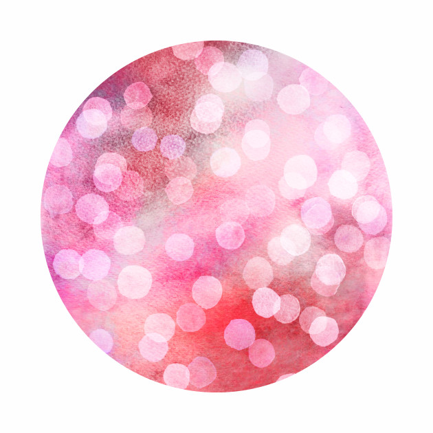 Strawberry Sunday - Pink Abstract Watercolor Dots