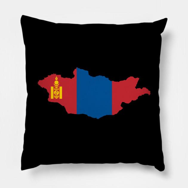 Mongolia Flag Map Kids Hoodie