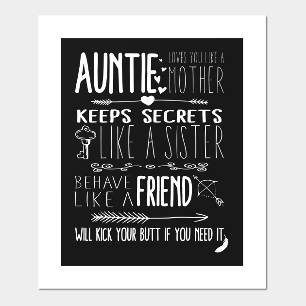 Auntie Loves You Quote Aunt Quotes Posters And Art Prints Teepublic