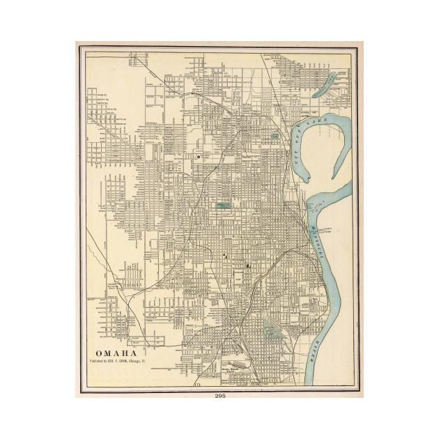 Vintage Map Of Omaha Nebraska 1901 Omaha Map Phone Case