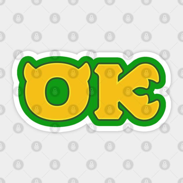 Oozma Kappa Monsters U Monsters U Sticker Teepublic Au