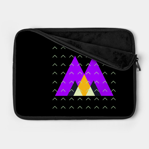 Geometric triangles and arrows pattern