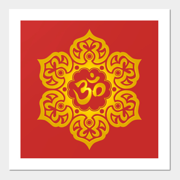 Yellow Lotus Flower Yoga Om Lotus Flower Posters And Art Prints