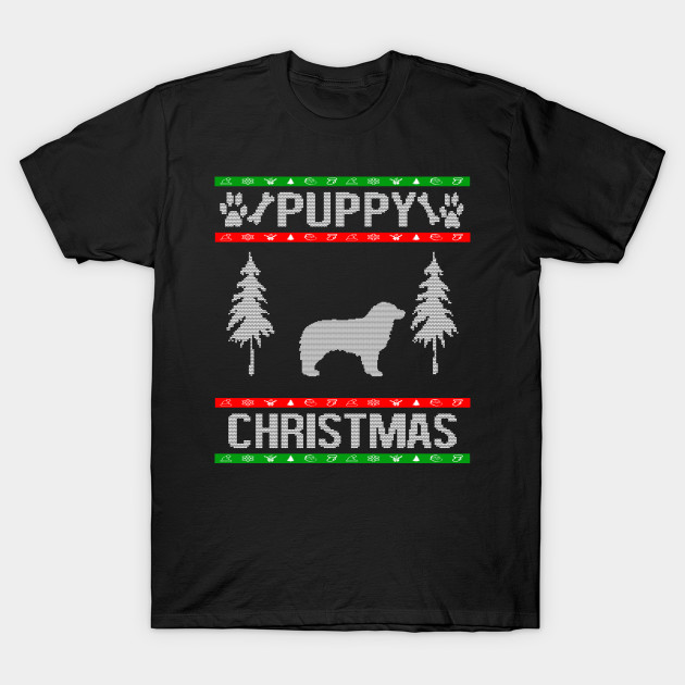 Australian Shepherd Ugly Christmas Sweater Design Puppy Dog Lover Breed