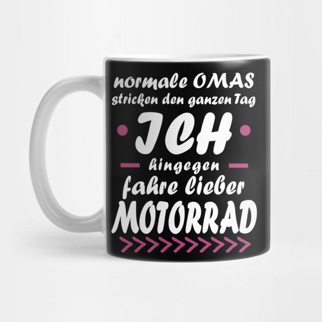 Motorrad Oma Rente Frau Biker Tour Spruch - Motorrad - Mug
