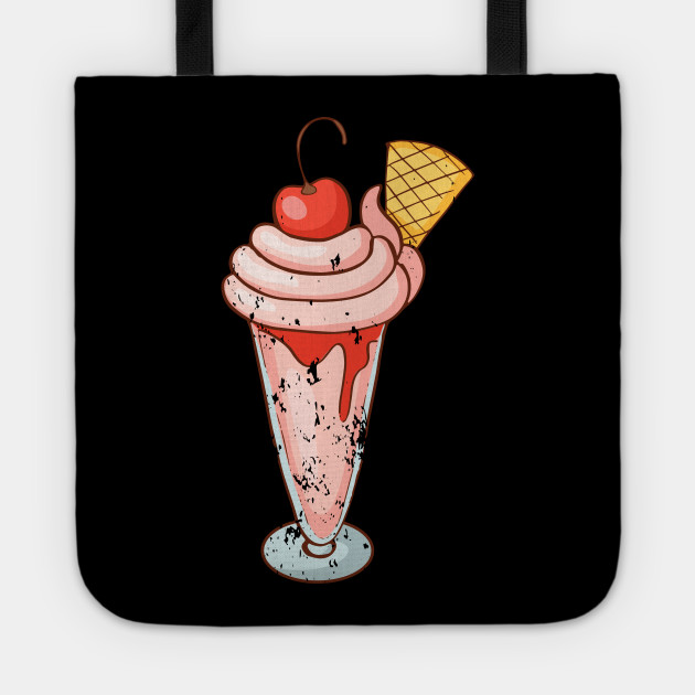 Ice cream Sundae Retro Vintage Grunge
