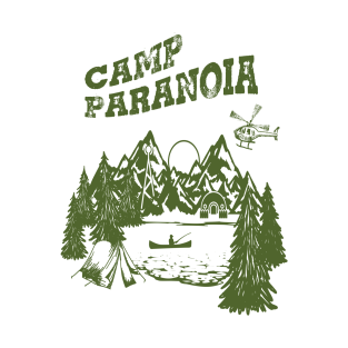 Camp PARANOIA - Black Helicopter Edition! t-shirts
