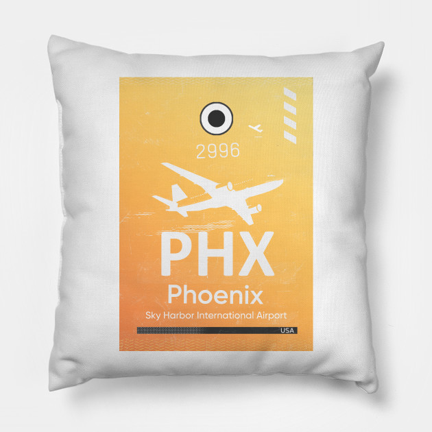 Phoenix Airport Code Phx Luggage Tag Pillow Teepublic