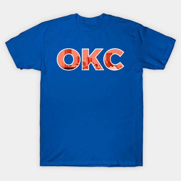 Oklahoma City Thunder OKC Skyline - Oklahoma City Thunder - T-Shirt ... 0afe75f2a