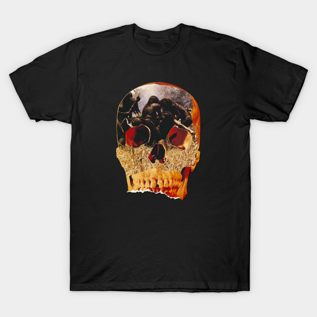 Cannibal Holocaust Cult Horror Movie Skull T-Shirt-TOZ