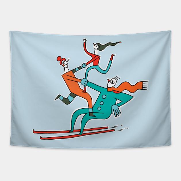 Skiing Acrobats