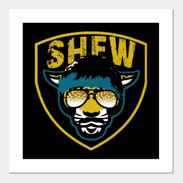Jaguar Mustache Shield For Uncle Rico Minshew Cool Gift Tshirt