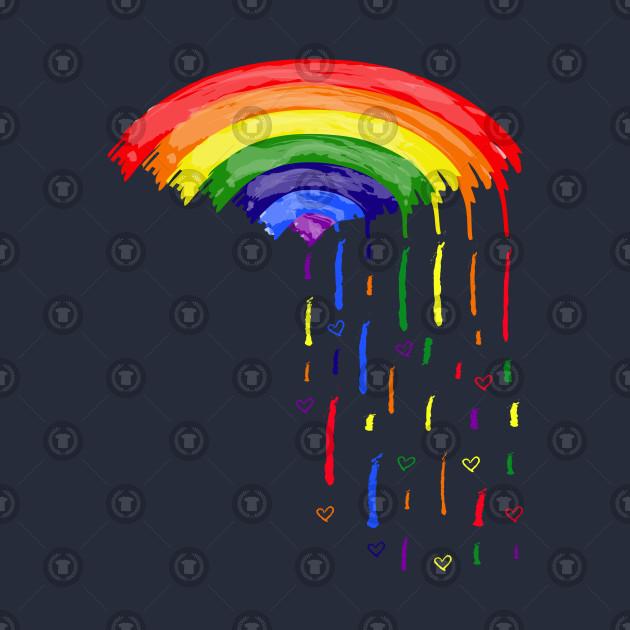 Love rainbow rain