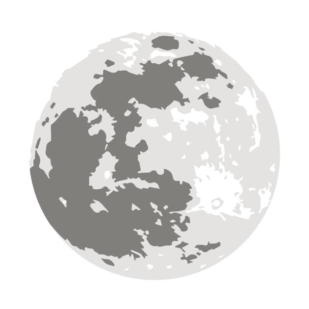Full Moon Simple Vector Design