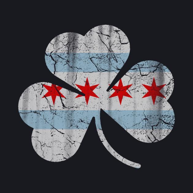 Irish Chicago Flag Shamrock