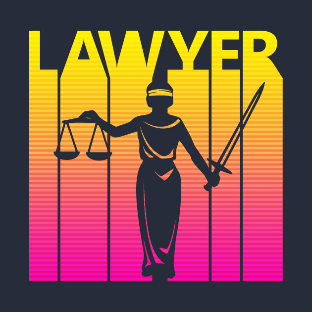 Vintage Retro Lawyer Law Gift