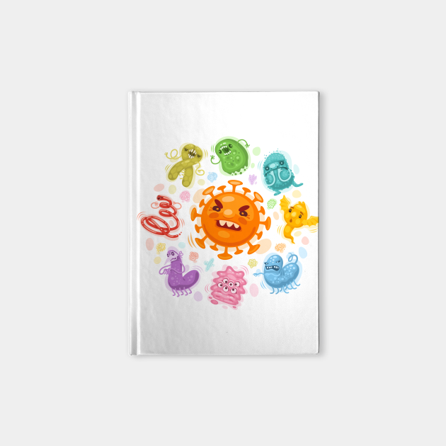 Cartoon Viruses & Bacteria