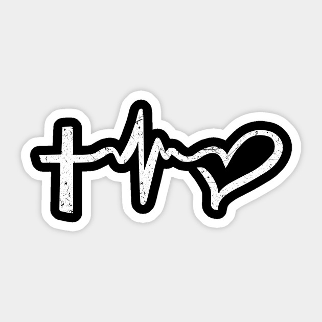 Faith Hope And Love Symbols Christian Design Christian Sticker
