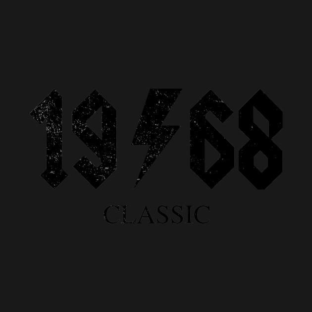 1968 Classic Rock 50th Birthday T Shirt For Legendary Rocker