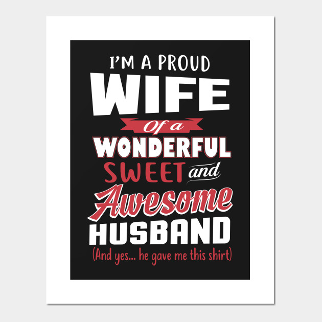 Funny Gift For Wife From Awesome Husband Birthday Posters And Art Prints