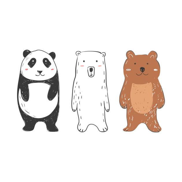 ecf97e2e Three little bears panda polar bear brown bear gift