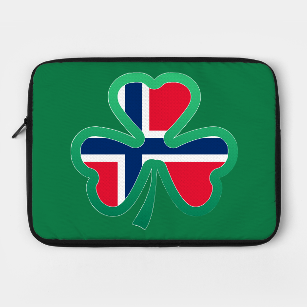 Norwegian Flag for st patricks day, Irish Shamrock