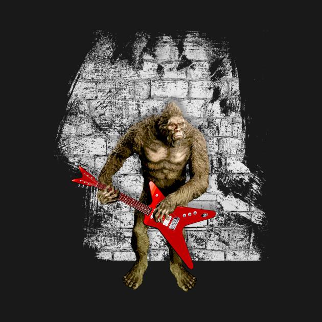 068bdba7d Bigfoot Guitar Player - Bigfoot - T-Shirt   TeePublic
