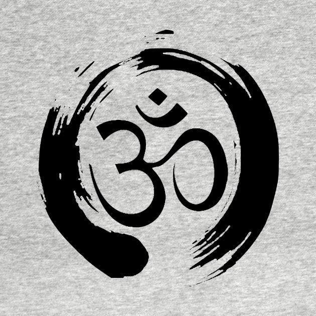 Enso Circle with Om - Zen Meditation Symbol - Om Symbol ...