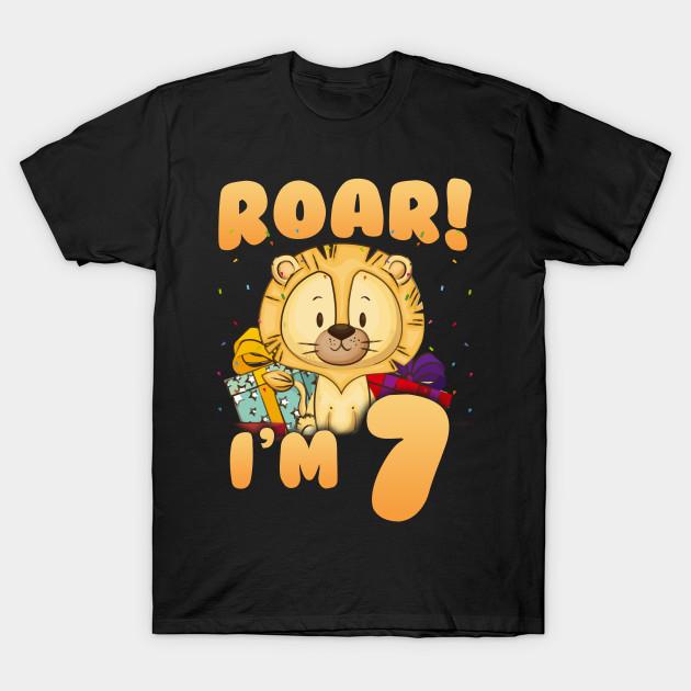I M 7 7th Birthday Age Lion Shirt T