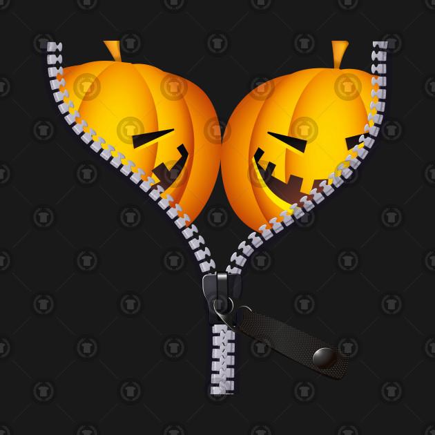 a443a29fa Pumpkin Funny BOObs Womens Shirt for Halloween Costumes - Halloween ...