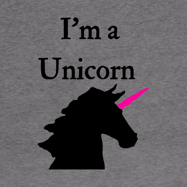 I'm A Unicorn Pink and Black