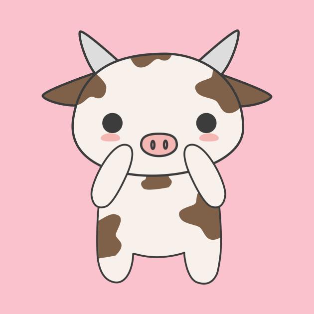 Cow kawaii. Cute t shirt