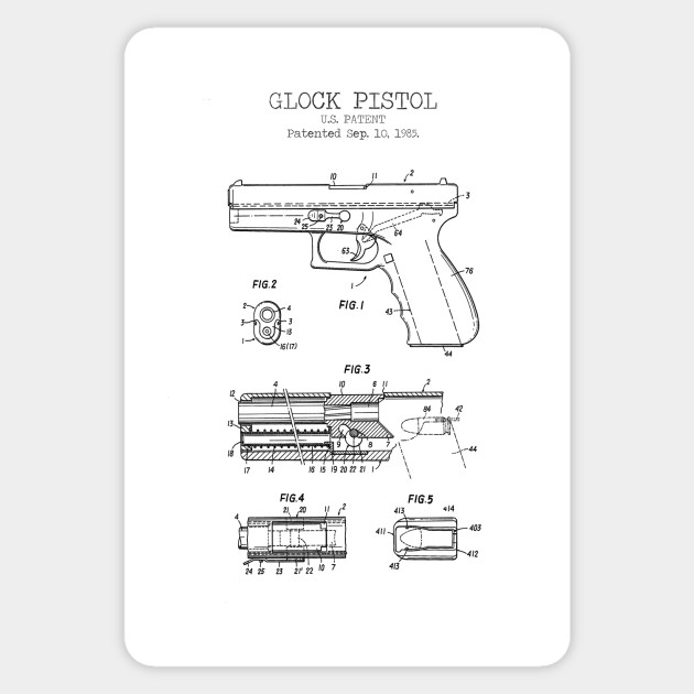 graphic about Printable Firearm Log named GLOCK PISTOL patent