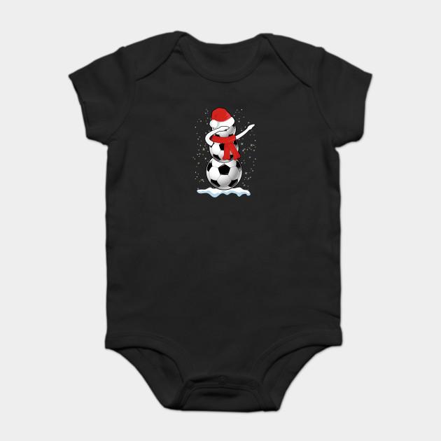 2c0f0ebcabc25 Dabbing Snowman Soccer Tshirt Funny Christmas Dab T Shirt Onesie