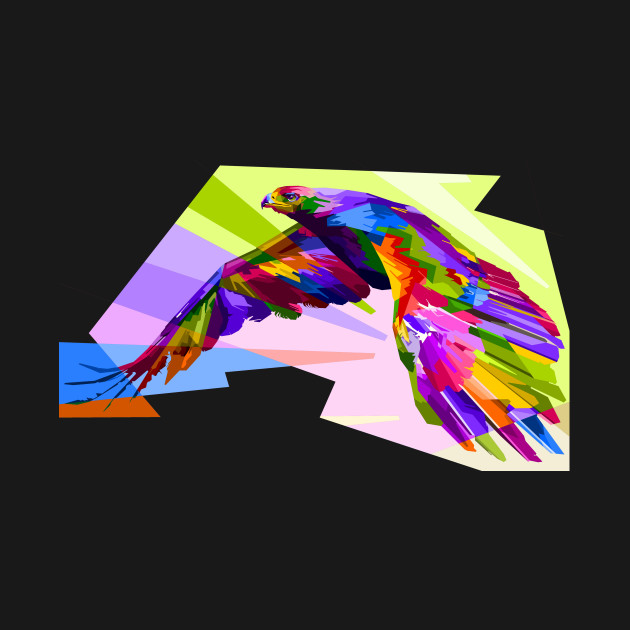 Eagle Flight Colorful Abstract Raptor Wildlife Nature Gift