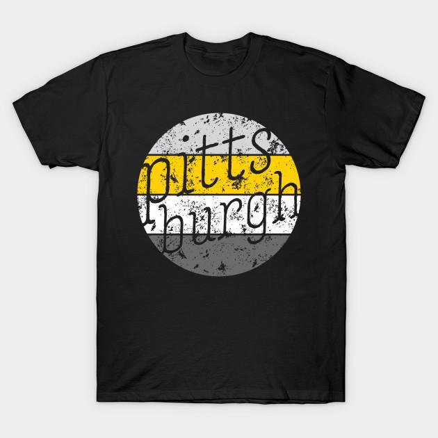 Pittsburgh Retro Fan Throwback Design - Steelers - T-Shirt  dcd0a2eb1