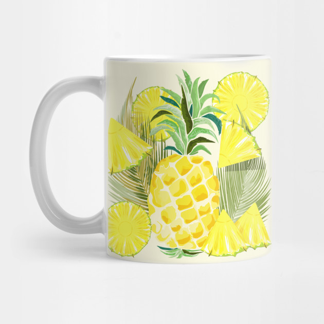 Pineapple Watercolor Fresh Summer Fruits