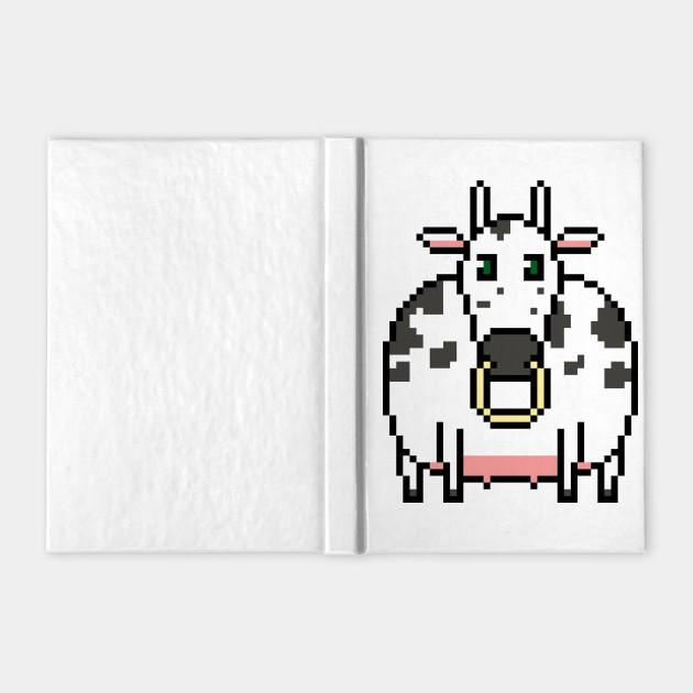 Isolated Pixel Art Cow Vector
