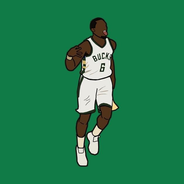 Eric Bledsoe 3 Point Celebration - NBA Milwaukee Bucks