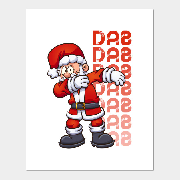 Christmas Dancing Cartoon.Christmas Santa Claus Dab Dancing