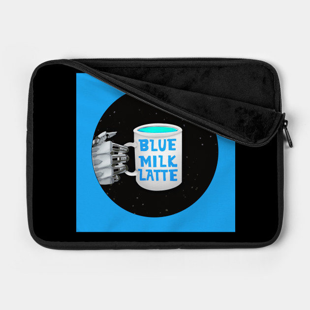 Blue Milk Latte Logo