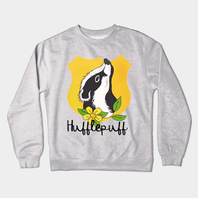506f9ead Hufflepuff Floral Crest - Hufflepuff - Crewneck Sweatshirt   TeePublic