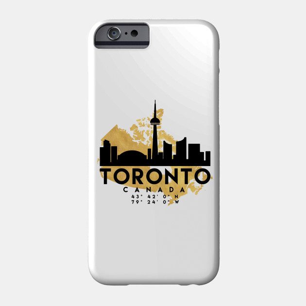 Toronto Canada Skyline Map Art - Toronto - Phone Case | TeePublic