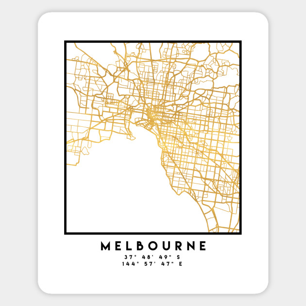Australia Map Melbourne.Melbourne Australia City Street Map Art
