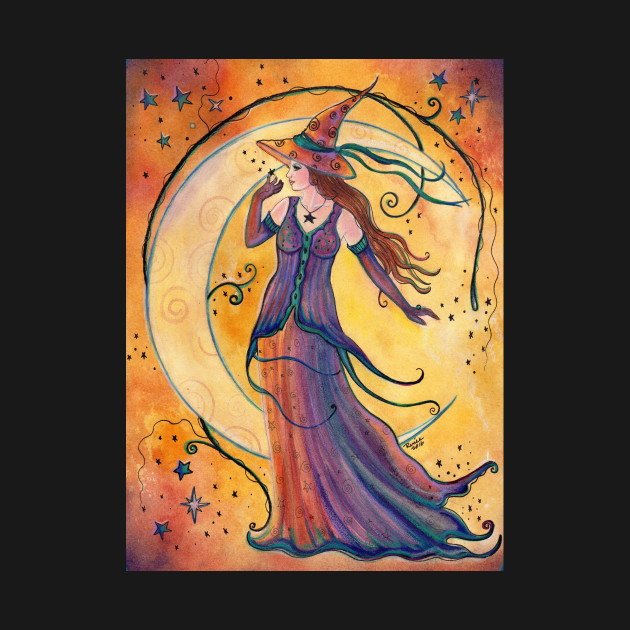 whimsical witch art by renee l lavoie witches kids t shirt