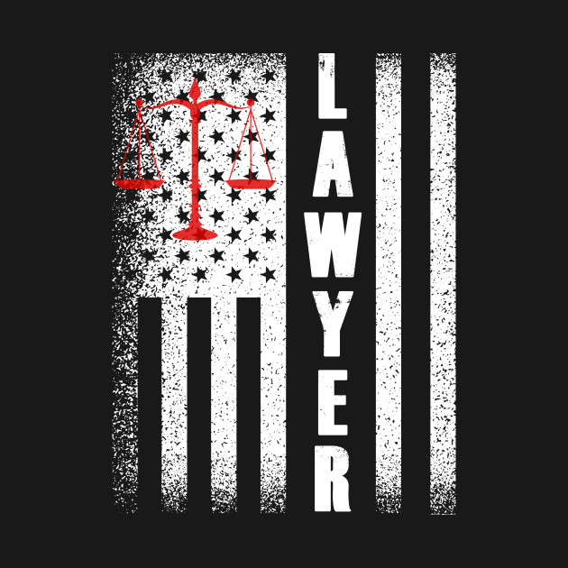 Lawyer With USA Flag