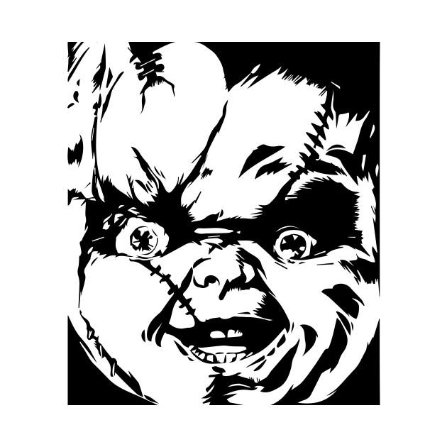 Chucky Clipart Black And White: Chucky - Chucky - Long Sleeve T-Shirt