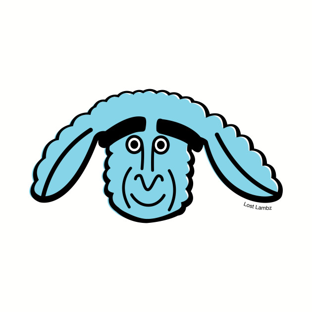 Lost Lambz Light Blue Head Design
